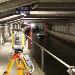 Modélisation 3D centimétrique d'un canal couvert