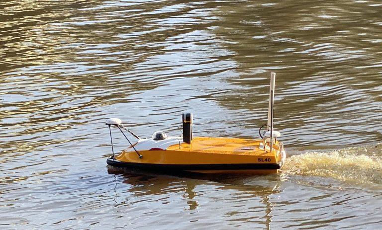 Le lidar directement intégré sur nos drones aquatiques