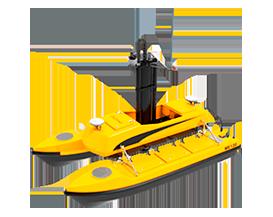 Drone aquatique BALI USV300 pour levés hydrographiques GEOD by CADDEN