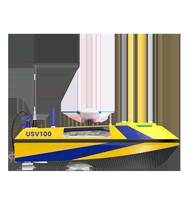 Drone bathymétrie autonome avec antenne GNSS BALI USV100 GEOD by Cadden