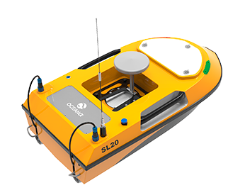 Drones hydrographiques Ocean Alpha pour levés bathymétriques