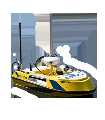 Drone bathymétrie autonome BALI USV100 GEOD by Cadden