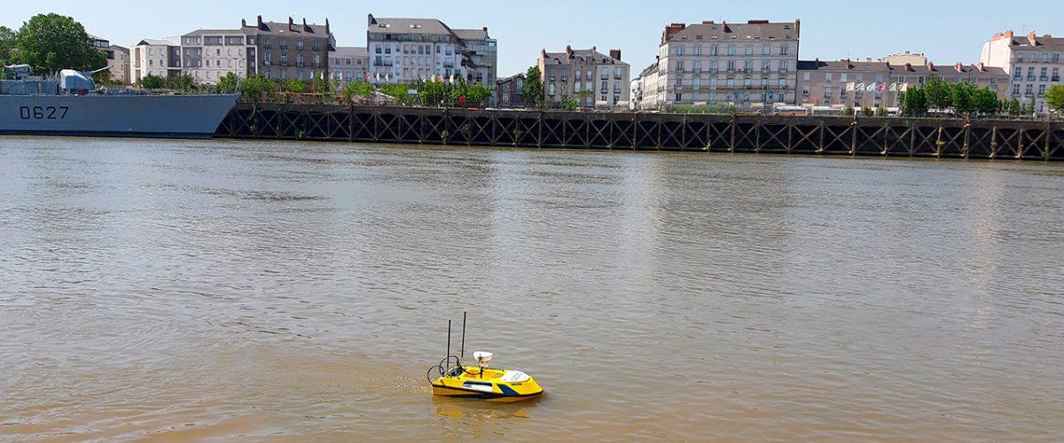 Drone marin autonome pour bathymétrie BALI USV100 GEOD by CADDEN