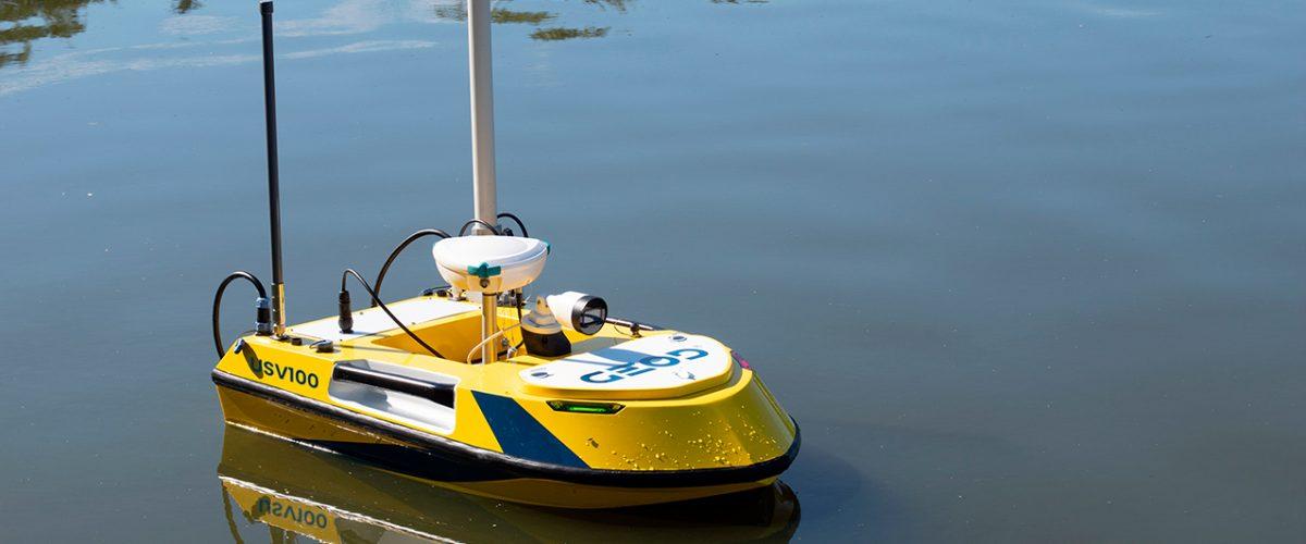 Drone marin autonome BALI USV100 conçu en France par GEOD by CADDEN
