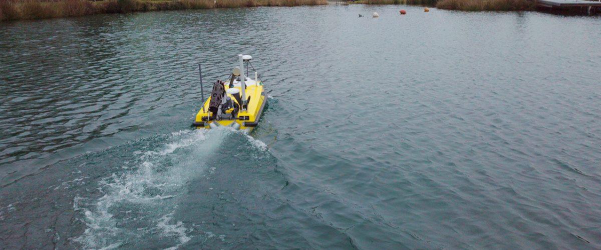 Drone bathymétrique multifaisceaux pour hydrographie et bathymétrie BALI USV200 GEOD