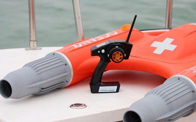Bouée de sauvetage radiocommandée avec télécommande Dolphin