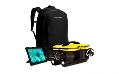 ROV drones sous-marin MarineNav avec sac de transport et tablette retour